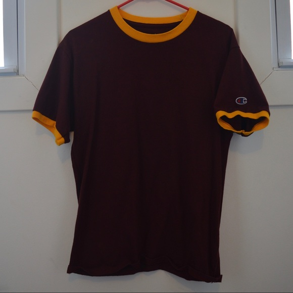 dc45196d Champion Shirts | Maroon And Gold Ringer Tshirt | Poshmark